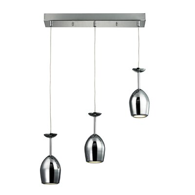 Giancola 3 LED Integrated Bulb Kitchen Island Pendant