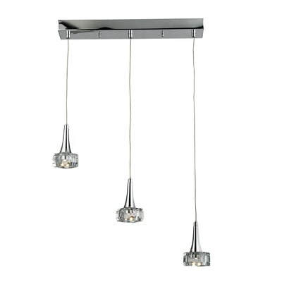 Alea 3 LED Integrated Bulb Kitchen Island Pendant