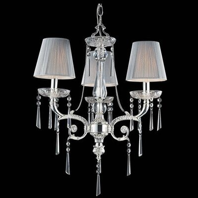 Kinser 3-Light Crystal Chandelier