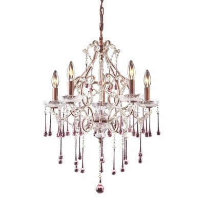 Opulence 5-Light Crystal Chandelier