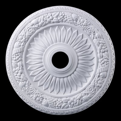 Floral Wreath Ceiling Medallion Finish: White