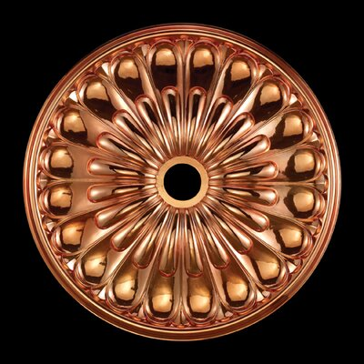 Melon Reed Ceiling Medallion Finish: Copper