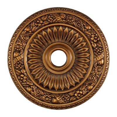 Floral Wreath Ceiling Medallion Finish: Antique Brass