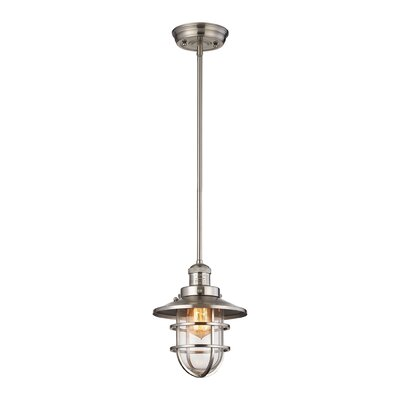 Humphries 1-Light Mini Pendant Color: Satin Nickel