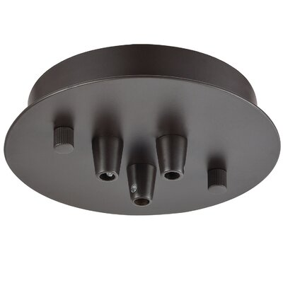 Illuminaire 3-Light Round Canopy Finish: Oil Rubbed Bronze
