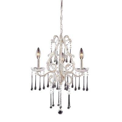 Driffield 3-Light Glass Crystal Chandelier