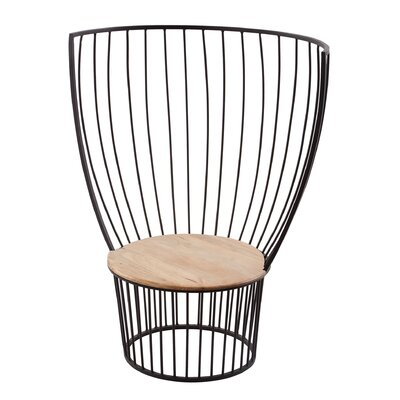 Natalya Teak and Metal Carousel Side Chair