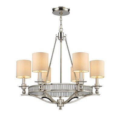 Easton 6-Light Shaded Chandelier