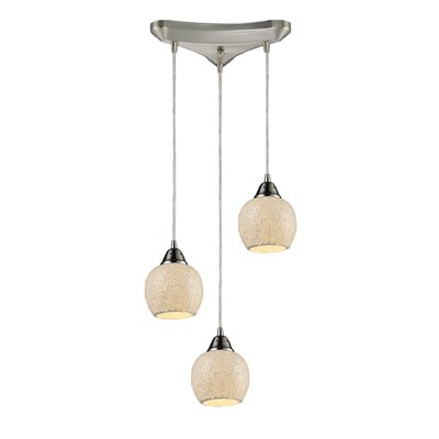 Meyerson 3-Light Pendant Shade Color: Cloud