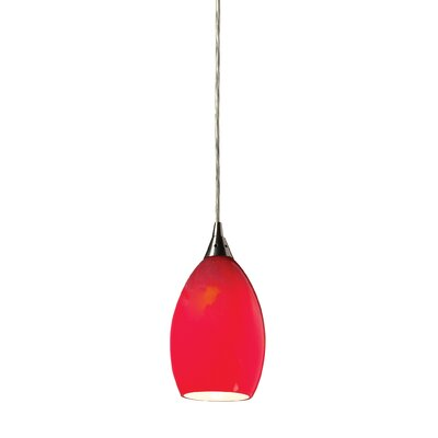 Tranquility 1-Light Mini Pendant Shade Color: Pomegranate