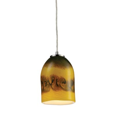 Hurwitz 1-Light Mini Pendant Shade Color: Comet