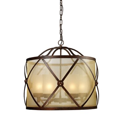 Markley 6-Light Drum Chandelier