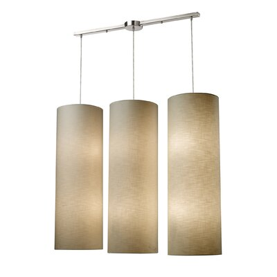 Klima Fabric Cylinders 12-Light Kitchen Island Pendant