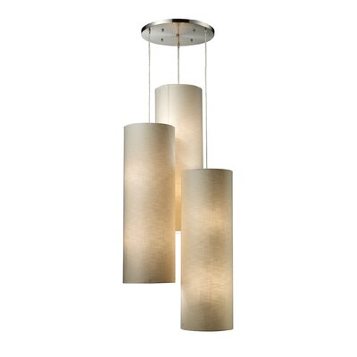 Klimek Fabric Cylinders 12-Light Cascade Pendant