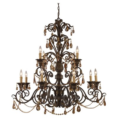 Lowenthal 12-Light Candle-Style Chandelier