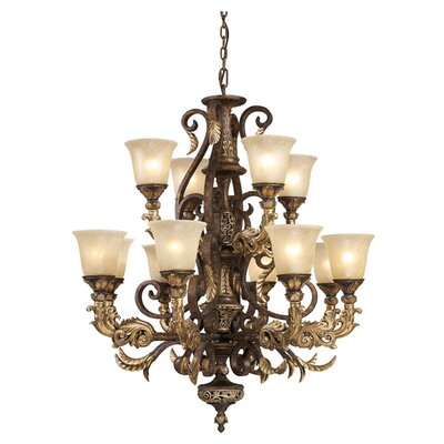 Regency 12-Light Shaded Chandelier