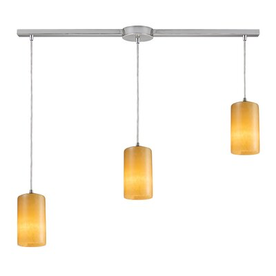 Piedra 3-Light Linear Pendant