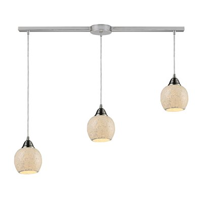 Meyerson 3-Light Linear Pendant Shade Color: Cloud