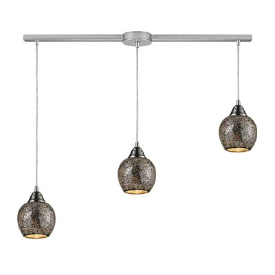 Fission 3-Light Linear Pendant Shade Color: Silver