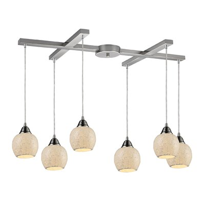 Fission 6-Light Pendant Shade Color: Cloud
