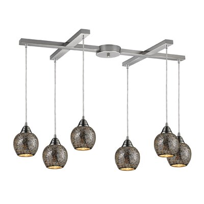 Fission 6-Light Pendant Shade Color: Silver