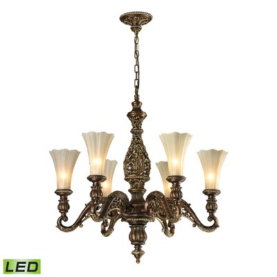 Allesandria 6-Light Shaded Chandelier Bulb Type: Dimmable 300 Lumens 5W LED Bulb