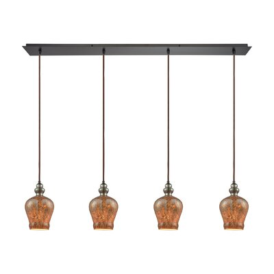 Brightmare Linear Pan 4-Light Kitchen Island Pendant