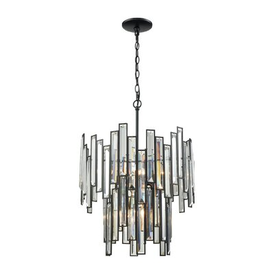 Esterly Crystal 6-Light Shaded Chandelier