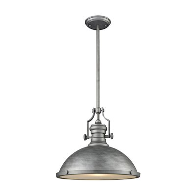 Susan 1-Light Mini Pendant Finish: Weathered Zinc, Size: 14 H x 17 W x 17 D
