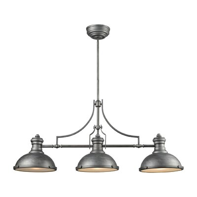 Susan 3-Light Kitchen Island Pendant Finish: Weathered Zinc
