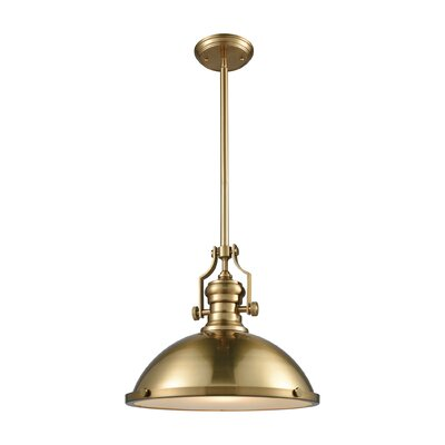 Susan 1-Light Mini Pendant Finish: Satin Brass, Size: 14 H x 17 W x 17 D
