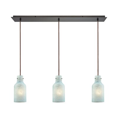 Burkhead Linear Pan 3-Light Kitchen Island Pendant Shade Color: Seafoam