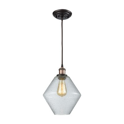 Davisville Glass 1-Light Schoolhouse Pendant