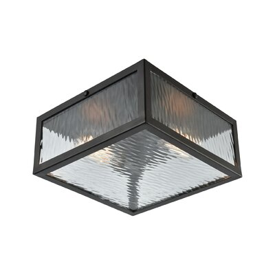 Fleeman 2-Light Flush Mount Finish: Oil Rubbed Bronze