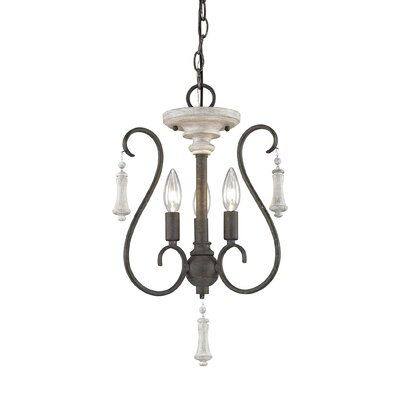 Pollitt 3-Light Candle-Style Chandelier