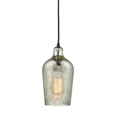 Esteban 1-Light Mini Pendant Shade Color: Mercury