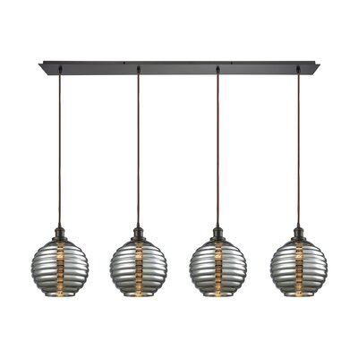 Bourbeau 4-Light Kitchen Island Pendant
