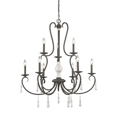 Pollitt 9-Light Candle-Style Chandelier