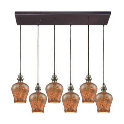 Brightmare Rectangle 6-Light Cascade Pendant
