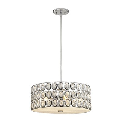 Amirah Crystal 5-Light Drum Pendant