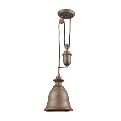 Rodriques Pulldown 1-Light Metal Inverted Pendant Finish: Tarnished Brass