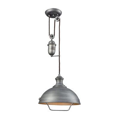 Rodriques Pulldown 1-Light Inverted Pendant Finish: Weathered Zinc