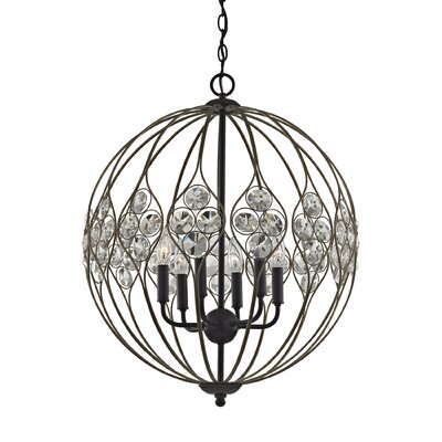 Dallas Crystal 6-Light Globe Pendant