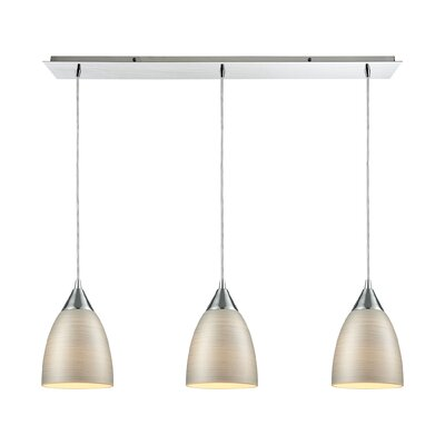 Mcbride Linear Pan 3-Light Kitchen Island Pendant Shade Color: Silver