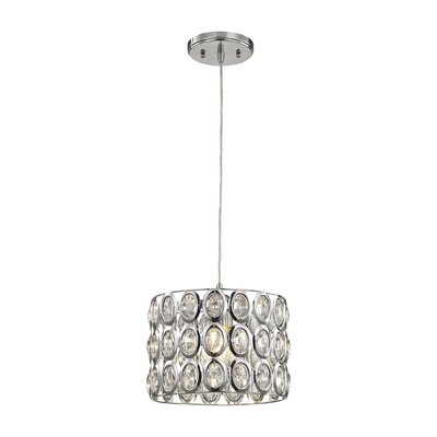 Blucher Crystal 1-Light Drum Pendant