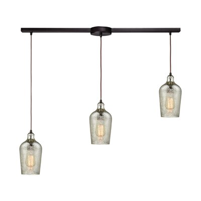 Esteban Linear Bar 3-Light Kitchen Island Pendant Shade Color: Mercury
