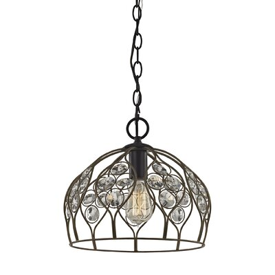 Dallas Crystal 1-Light Inverted Pendant