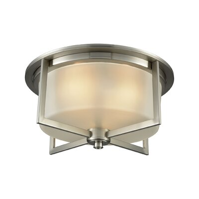 Bader 3-Light Flush Mount Finish: Satin Nickel