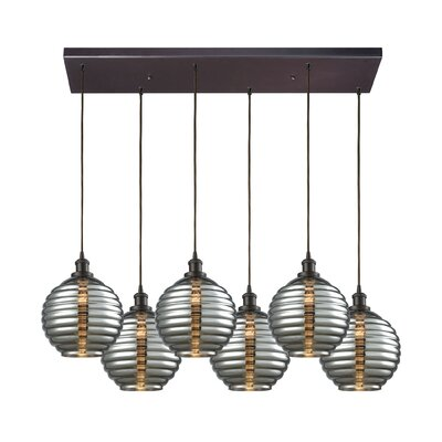 Bourbeau 6-Light Cascade Pendant
