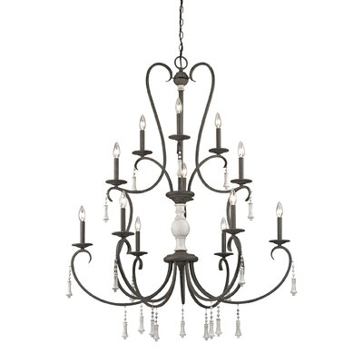 Pollitt 12-Light Candle-Style Chandelier